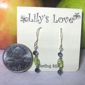 Peridot and Iolite Earrings